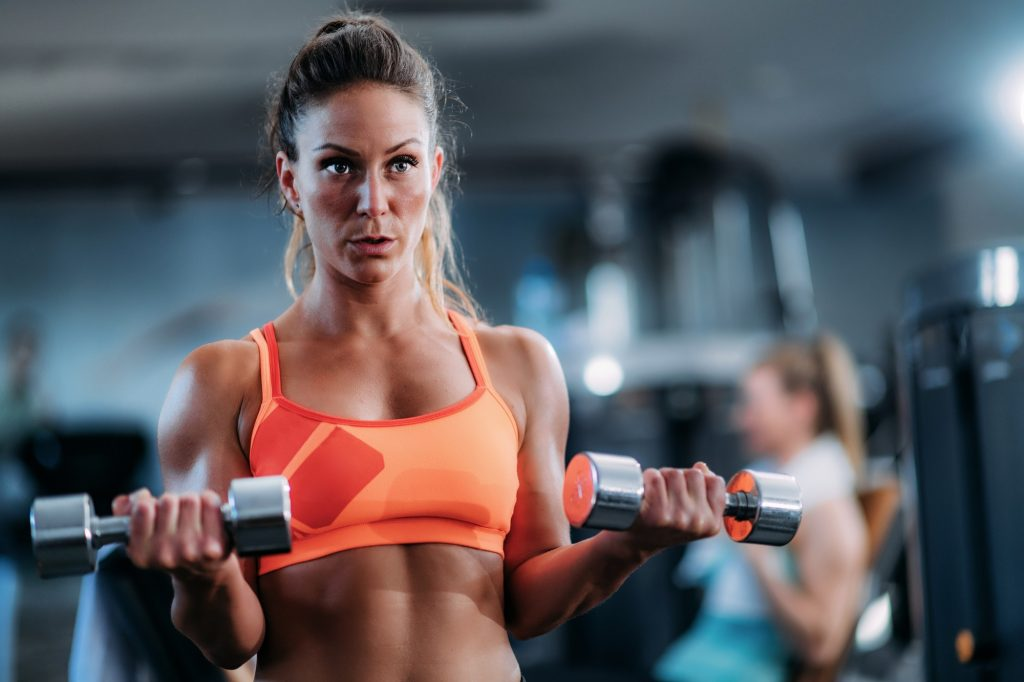 Biceps Exercise with Weights